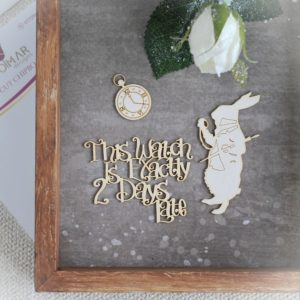 Alice in Wonderland watch chipboard elements