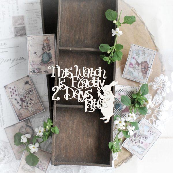 alice in wonderland decorative laser cut chipboard embellishment