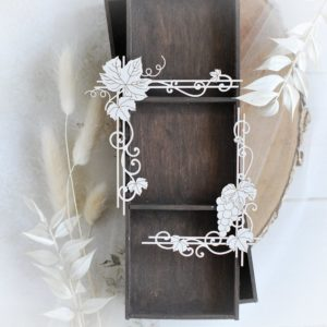 first holy communion set of two corner decorative laser cut chipboards