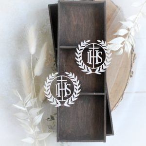 first holy communion set of two host decorative laser cut elements