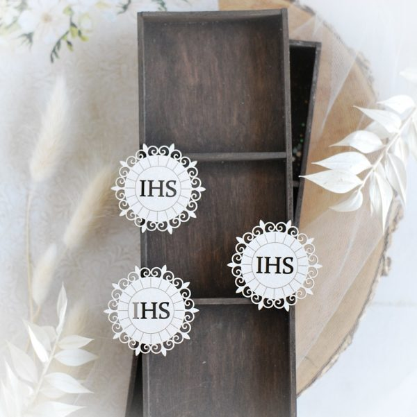 first holy communion set of three host decorative laser cut chipboard elements