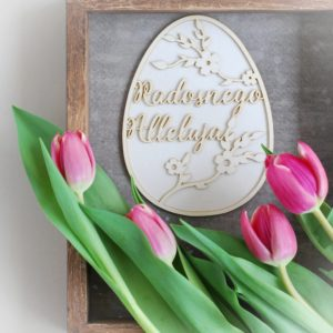 2 layer large decorative laser cut radosnego alleluja egg chipboard