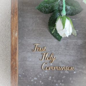 First Holy Communion words set