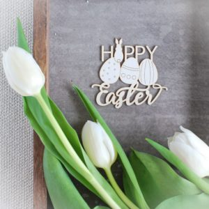Happy Easter chipboard
