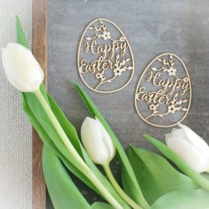 Happy Easter chipboard eggs set