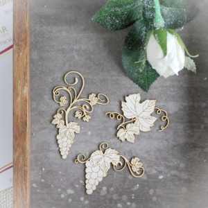 Holy Communion chipboard grape vine set