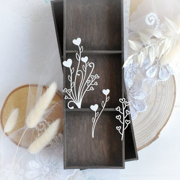 decorative laser cut floral chipboard embellishments