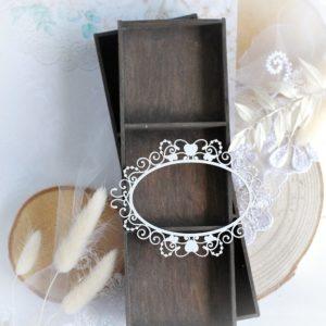 frame decorative laser cut chipboard embellishment
