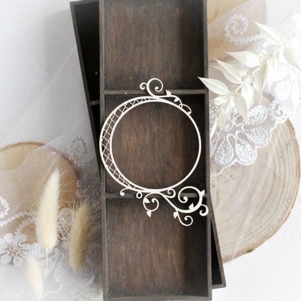 decorative laser cut chipboard frame embellishment