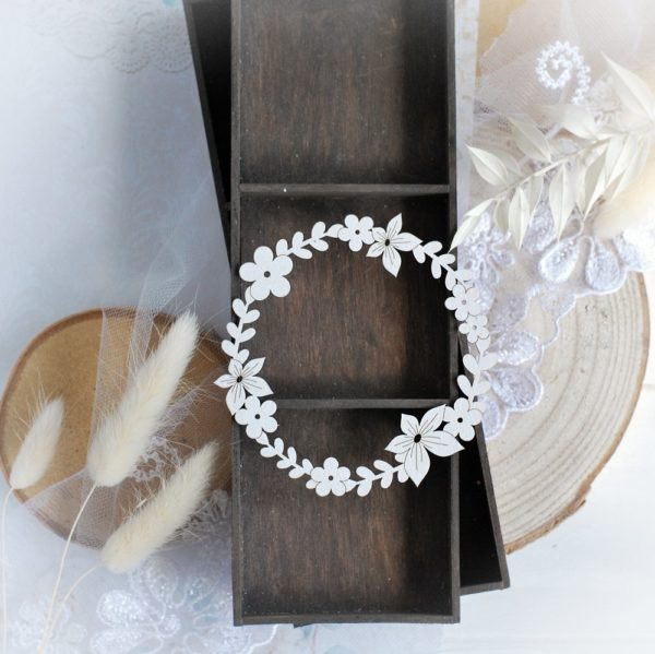 wreath frame decorative laser cut chipboard embellishment