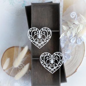 heart set decorative laser cut chipboard embellishments