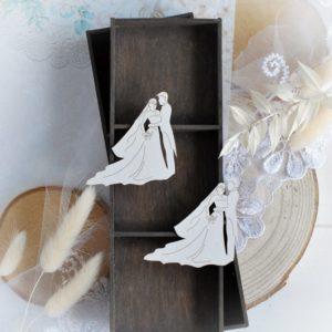 wedding love set bride and greem decorative laser cut chipboard embellishment