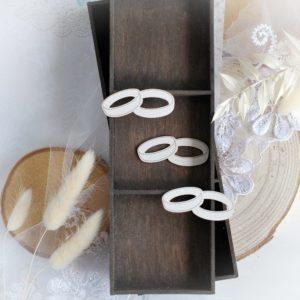 set of wedding rings decorative laser cut chipboard embellishments