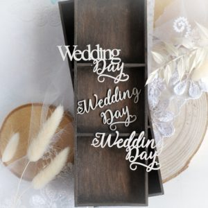 wedding day set of decorative laser cut chipboard embellishment