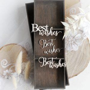 best wishes word set decorative laser cut chipboard embellishments