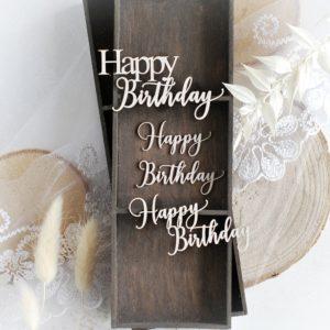 happy birthday word set decorative laser cut chipboard embellishments