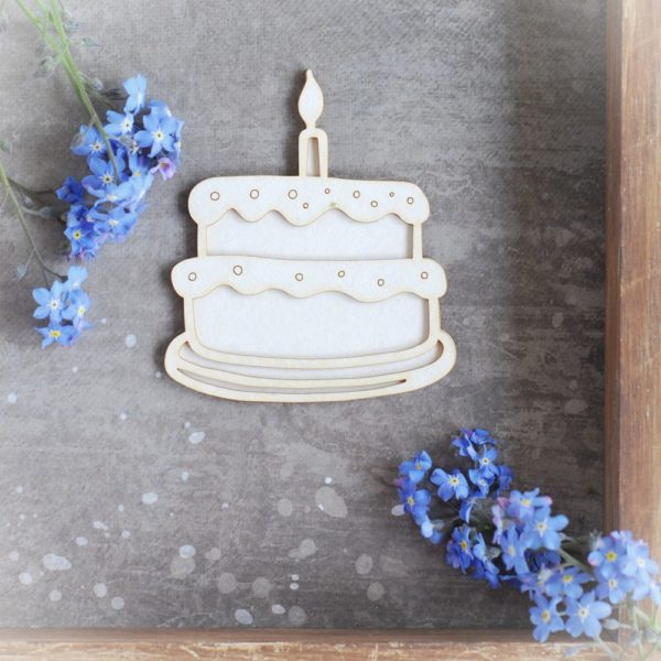 2d 1st birthday decorative laser cut chipboard