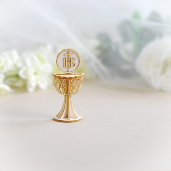 3d first holy communion half chalice laser cut chipboard