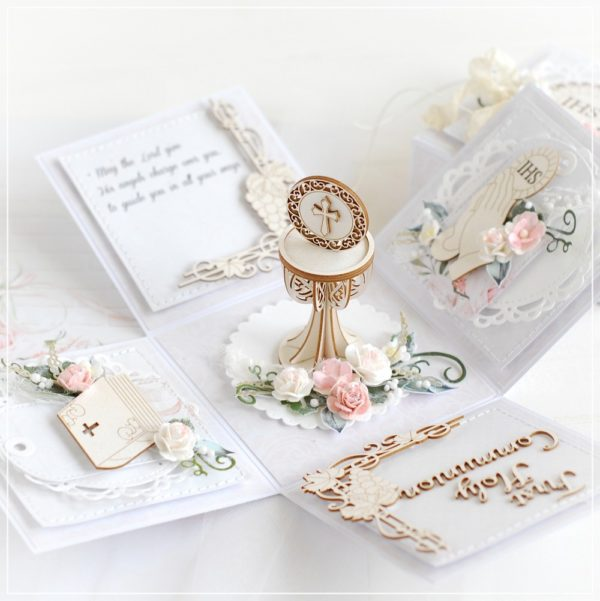 personalised first holy communion gift box card