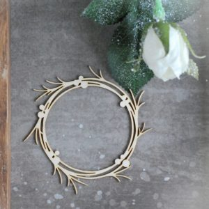 decorative laser cut chipboard wreath frame