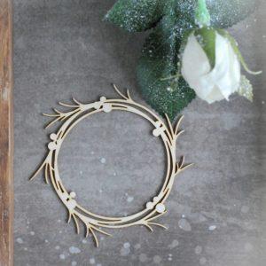 decorative laser cut chipboard wreath frame