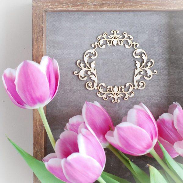 decorative laser cut chipboard frame