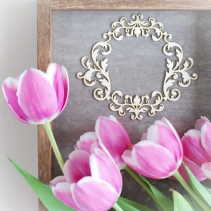 large decorative laser cut chipboard ornament frame