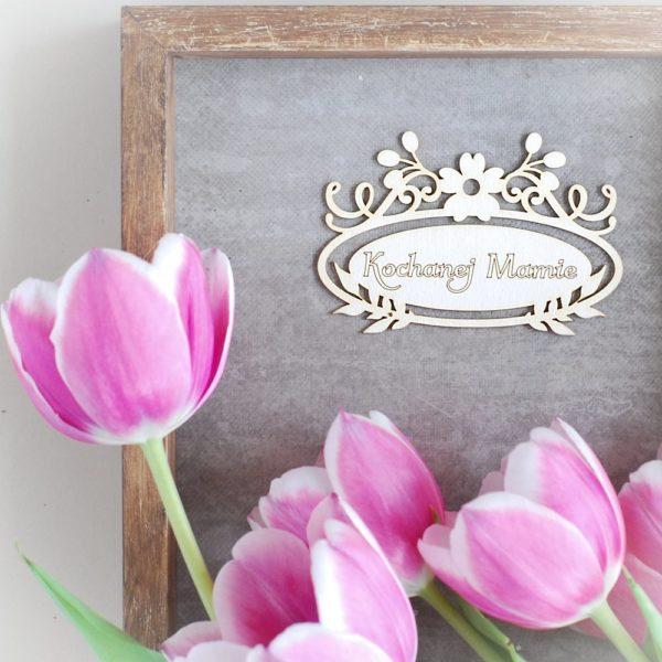 decorative laser cut chipboard frame kochanej mamie