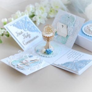 first holy communion unique exploding box card gift for a boy