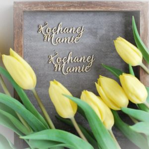 kochanej mamie set of decorative laser cut chipboard words