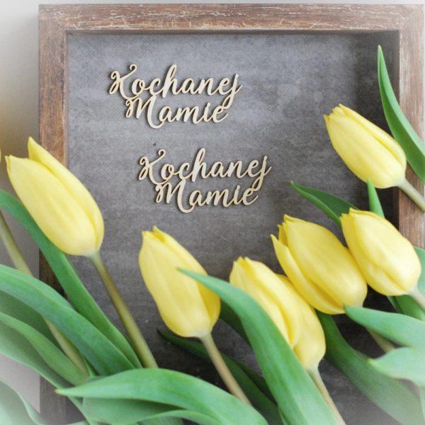 kochanej mamie set of decorative laser cut chipboard words