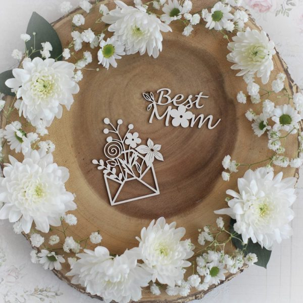 mothers day collection best mom set decorative laser cut chipboards