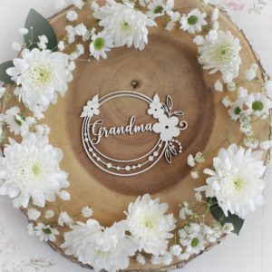 mothers day collection grandma frame decorative laser cut chipboard