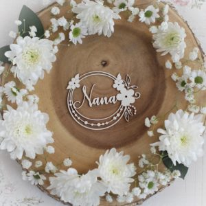 mothers day collection nana frame decorative laser cut chipboard