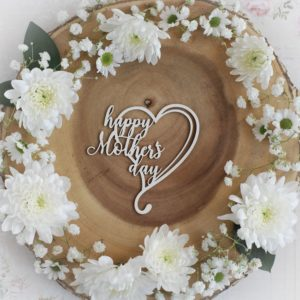 mothers day collection happy mothers day heart decorative laser cut chipboard