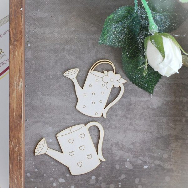 spring watering can set of laser cut chipboards