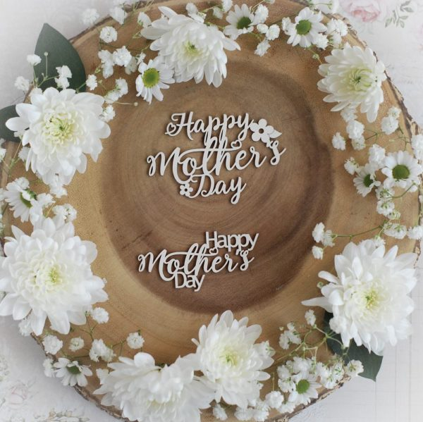 mothers day collection set of two happy mothers day decorative laser cut chipboard
