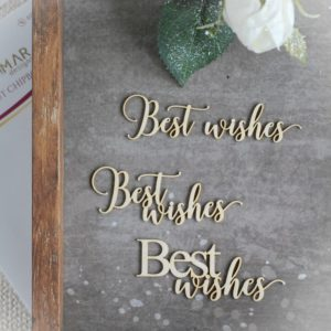 best wishes set of decorative laser cut chipboard words