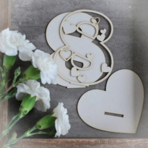 2d number eight decorative laser cut chipboard