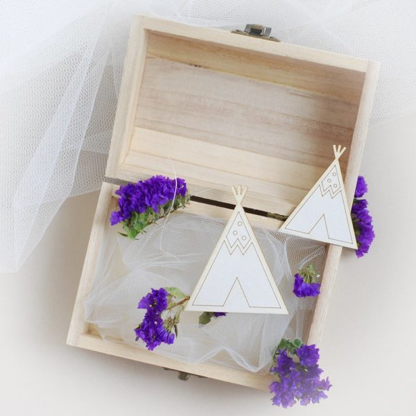 teepee tipi decorative laser cut chipboard set