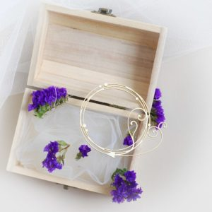 decorative boho frame with swirls laser cut chipboard