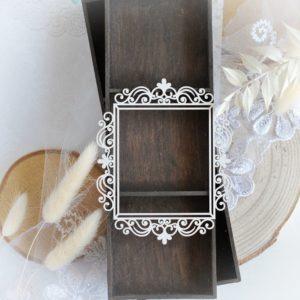 bloomar desings rectangle frame decorative laser cut chipboard embellishment