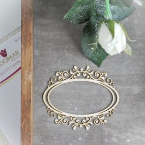 decorative laser cut chipboard frame