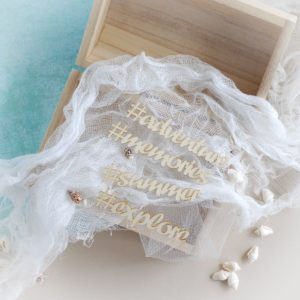 adventure summer explore memories decorative laser cut chipboard words set