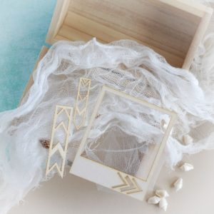 polaroid frame decorative laser cut chipboard set