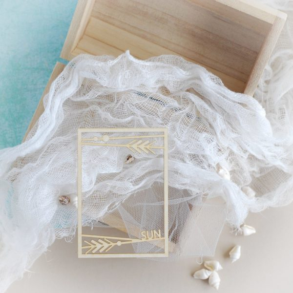 decorative summer frame laser cut element