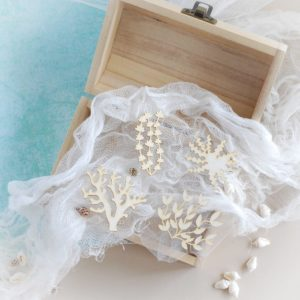 seaweeds decorative laser cut chipboard elements