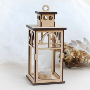 3D mdf decorative laser cut christmas lantern