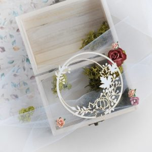 decorative fall autumn laser cut chipboard wreath frame