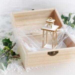 decorative laser cut chipboard 3d christmas lantern